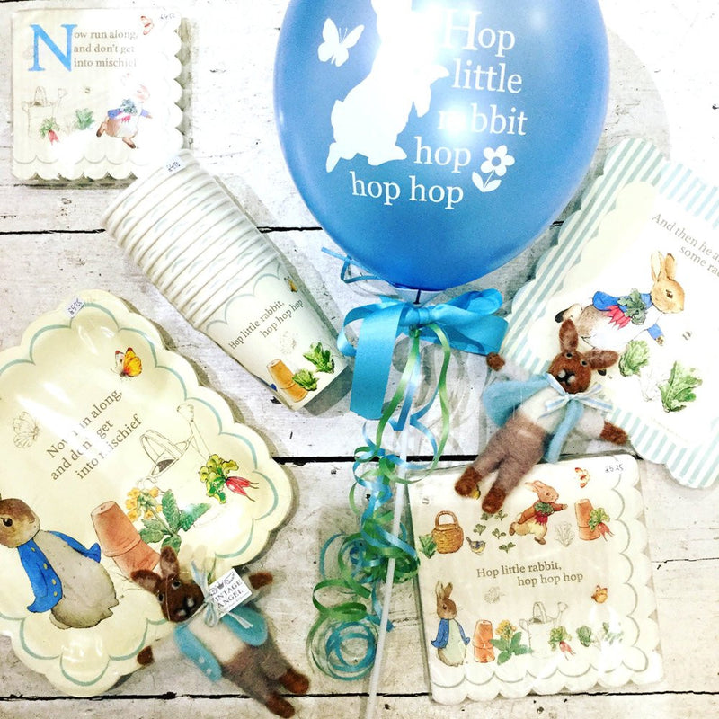 "Peter Rabbit ""Hop little rabbit...hop hop hop"" Balloon - Cyan Blue"