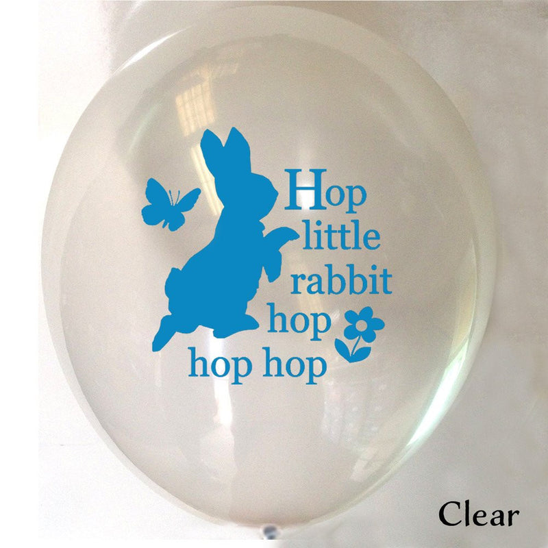 "Peter Rabbit ""Hop little rabbit...hop hop hop"" Balloon - Clear, VA-Vintage AngelVA-Vintage Angel, Putti Fine Furnishings"