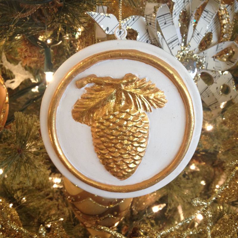 "Bisque ""Pinecone"" Ornament"