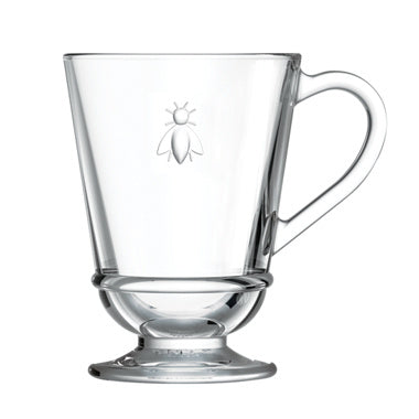 La Rocher Abeilles Footed Glass Mug 9.7oz