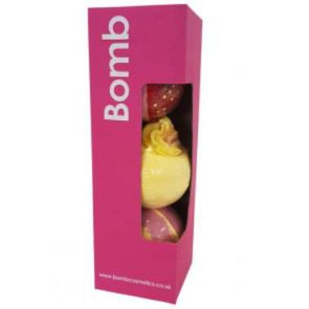 Bomb Cosmetics Pink Pillar Pack Gift Box