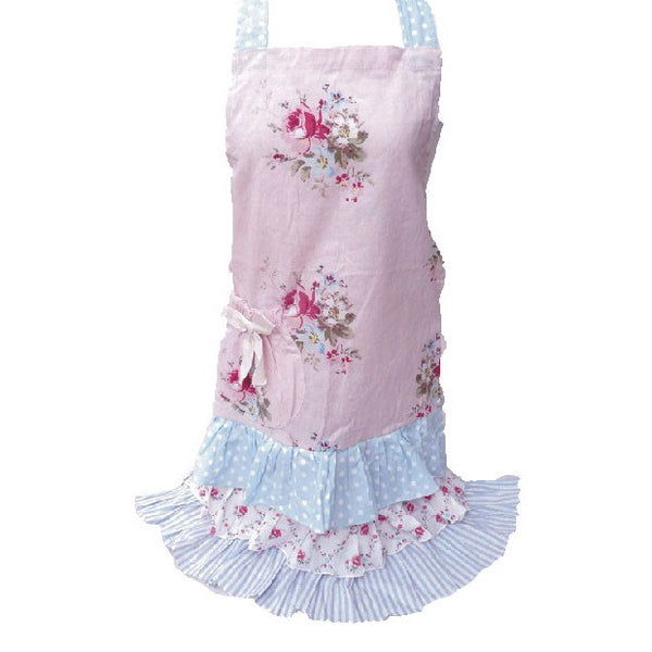 MIss Rose Sister Violet Mommy's Pink Posy Apron -  Apron - Miss Rose Sister Violet - Putti Fine Furnishings Toronto Canada