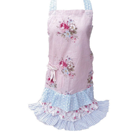 MIss Rose Sister Violet Mommy's Pink Posy Apron-Apron-Miss Rose Sister Violet-Putti Fine Furnishings