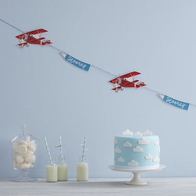 """Flying High"" Vintage Aeroplane - Bunting -  Party Supplies - Ginger Ray UK - Putti Fine Furnishings Toronto Canada - 2"
