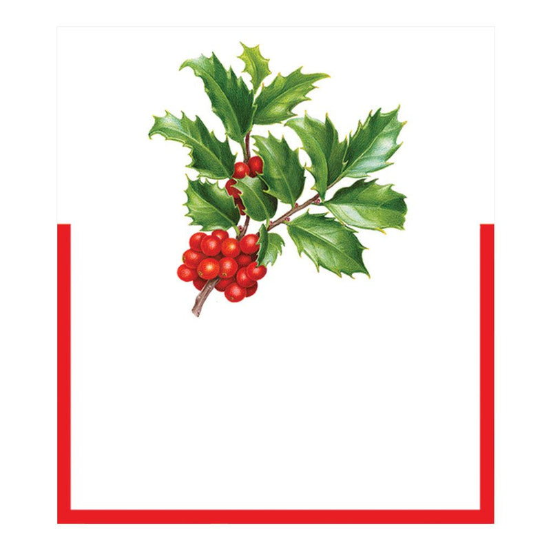 Caspari Christmas Trimmings Die Cut Place Card | Putti Christmas Canada