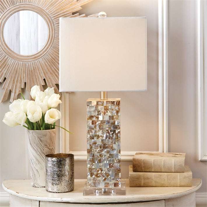 Tozai Mother of Pearl Table Lamps