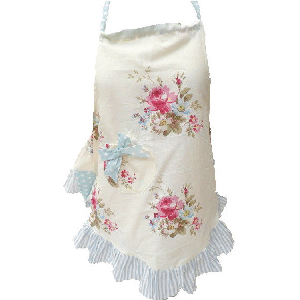 Miss Rose Sister Violet Mommy White Posy Bell Apron -  Apron - Miss Rose Sister Violet - Putti Fine Furnishings Toronto Canada - 1