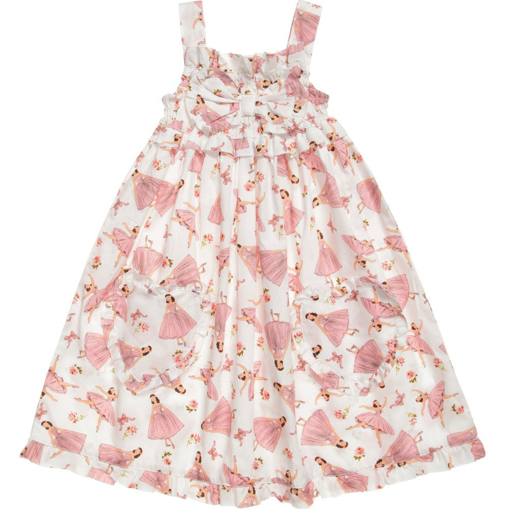 """Nina"" Ballerina Print Dress - 1 to 2 years - special order 2 weeks Dresses - Powell Craft Uk - Putti Fine Furnishings Toronto Canada - 1"