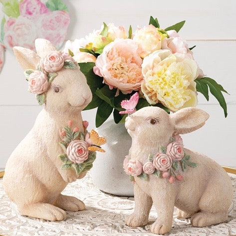 Standing Floral Bunny | Putti Fine Furnishings
