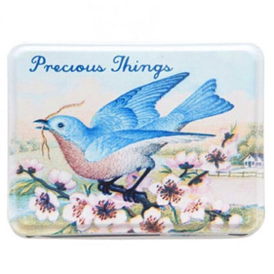 """Precious Things"" Floral Bird Tin"