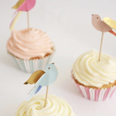 "Meri Meri ""Pretty Birdie"" Cupcake Kit -  Party Supplies - Meri Meri UK - Putti Fine Furnishings Toronto Canada - 3"