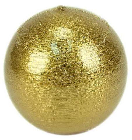 Metallic Gold Ball Candle