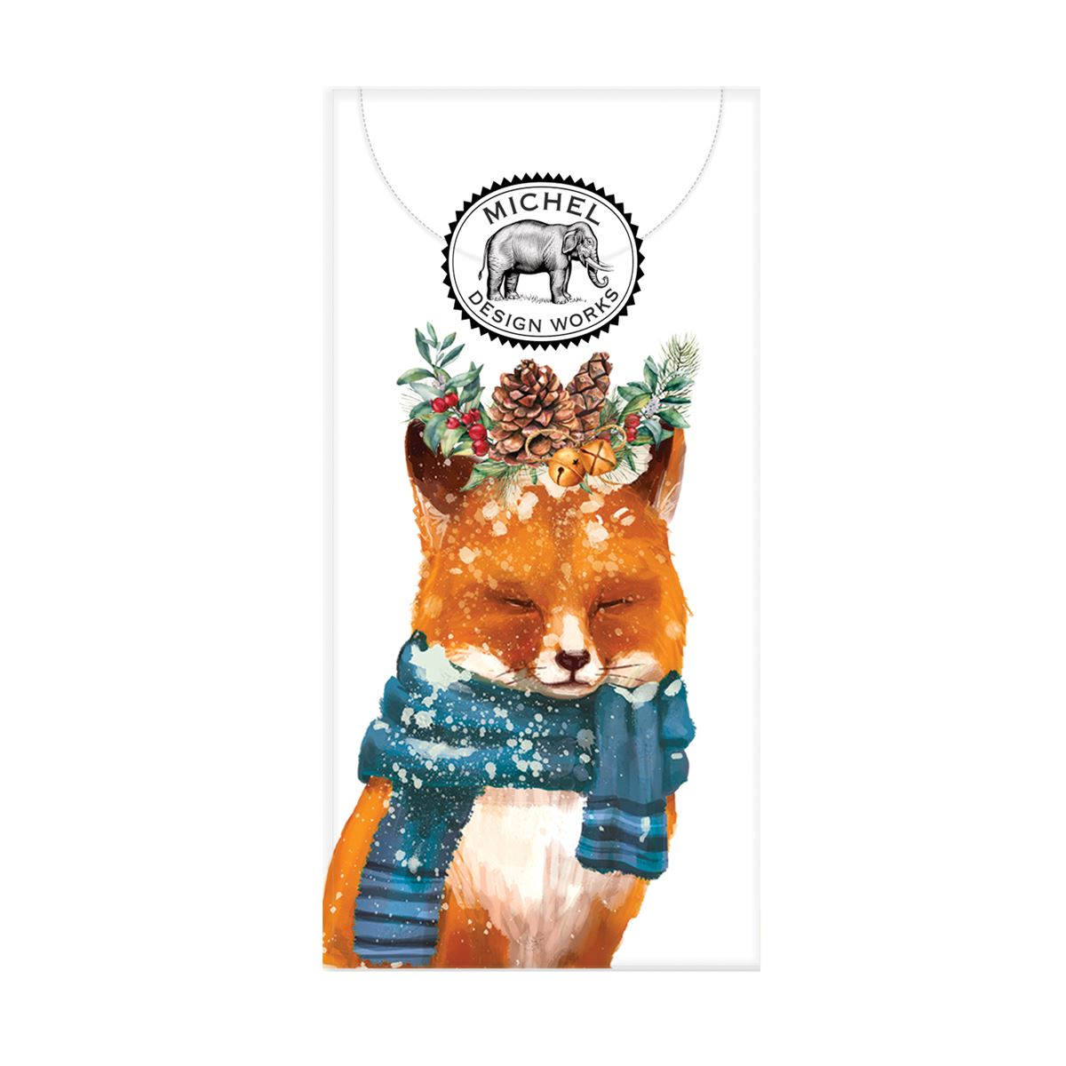 Michel Design Works Christmas Party Fox Pocket Tissues | Putti Christmas