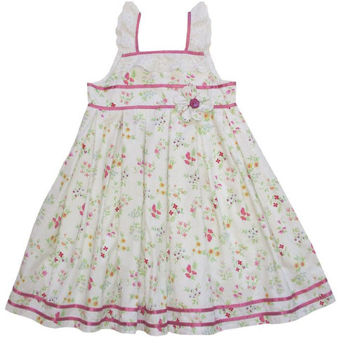 """Amy"" Floral Dress - 1 to 2 years  (Special Order 2 weeks) Dresses - Powell Craft Uk - Putti Fine Furnishings Toronto Canada"
