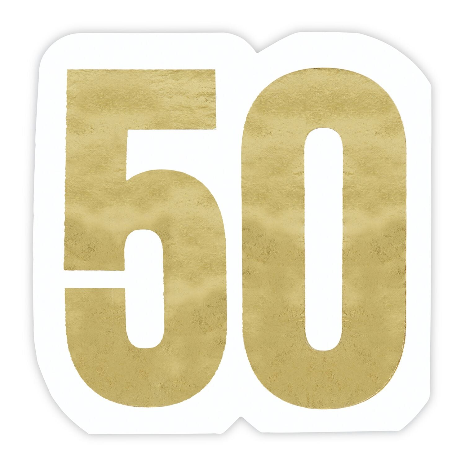 "Slant ""50"" Gold Foil Die Cut Paper Napkins - Putti Party Supplies"