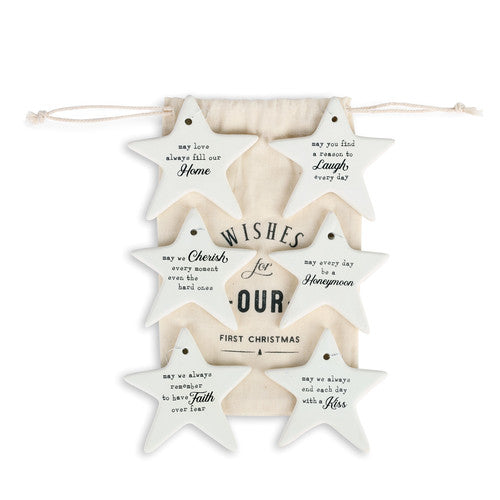 Our First Christmas Porcelain Ornament Bag