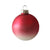 Raspberry Red Ombre Matte Satin Glass Ornament - Ball