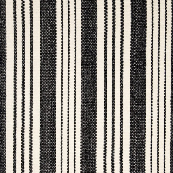 Birmingham Woven Cotton Rug - Black