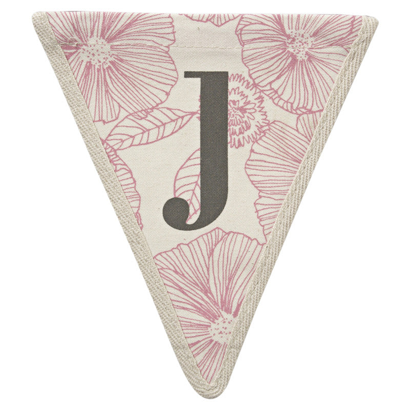 Meri Meri Alphabet Bunting - Letter J, MM-Meri Meri UK, Putti Fine Furnishings