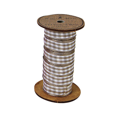 Meri Meri Alphabet Bunting - Ribbon Spool Brown Gingham, MM-Meri Meri UK, Putti Fine Furnishings