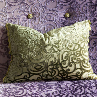 Designers Guild Rochester Moss Throw Pillow-Pillow-DG-Designers Guild-Moss-Putti Fine Furnishings