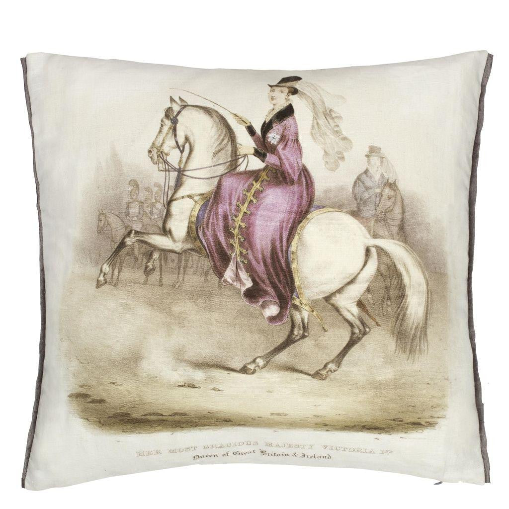 The Royal Collection Queen Victoria Amethyst Cushion, DG-Designers Guild, Putti Fine Furnishings