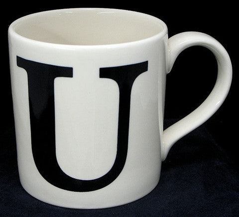 Alphabet Mug - U, JLB-J L Bradshaws, Putti Fine Furnishings