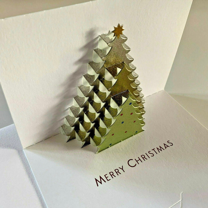 The Art File Christmas Tree Pop Up Boxed Christmas Cards | Putti Christmas Celebrations