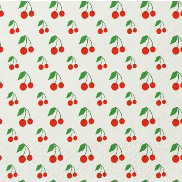 """Picnic Bing"" Cherries Paper Luncheon Napkin, Design Home, Putti Fine Furnishings"