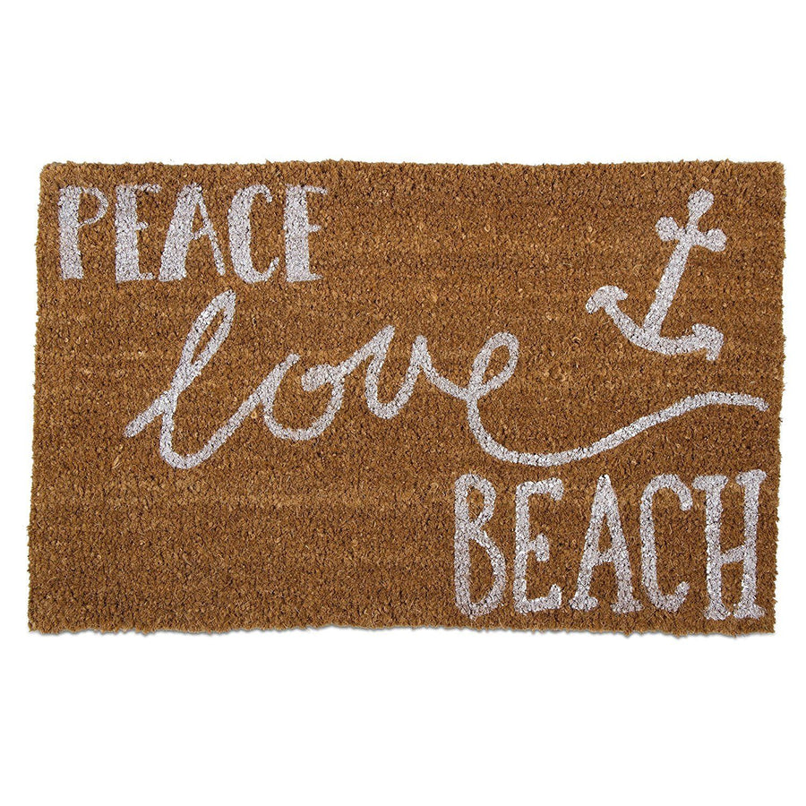 """Peace Love Beach"" Doormat"