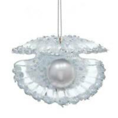 Pearl Clam Shell Ornament