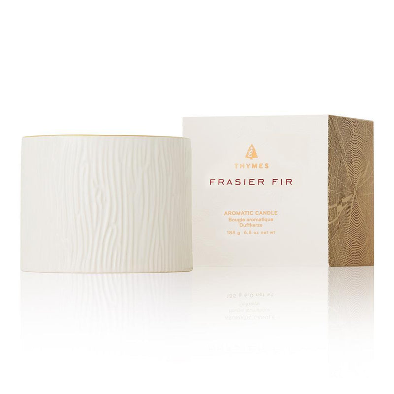 Thymes Frasier Fir Petite Ceramic Candle - Putti Fine Furnishings Canada
