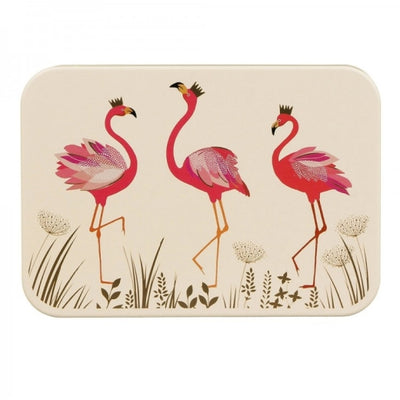 Sara Miller Small Rectangular Tin - Flamingos |  Putti Fine Furnishings
