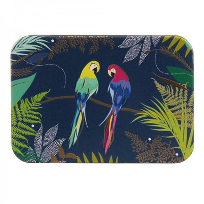 Sara Miller Small Rectangular Tin - Parrots