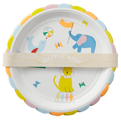 Meri Meri Silly Circus - Large Paper Plates -  Party Supplies - Meri Meri UK - Putti Fine Furnishings Toronto Canada - 2