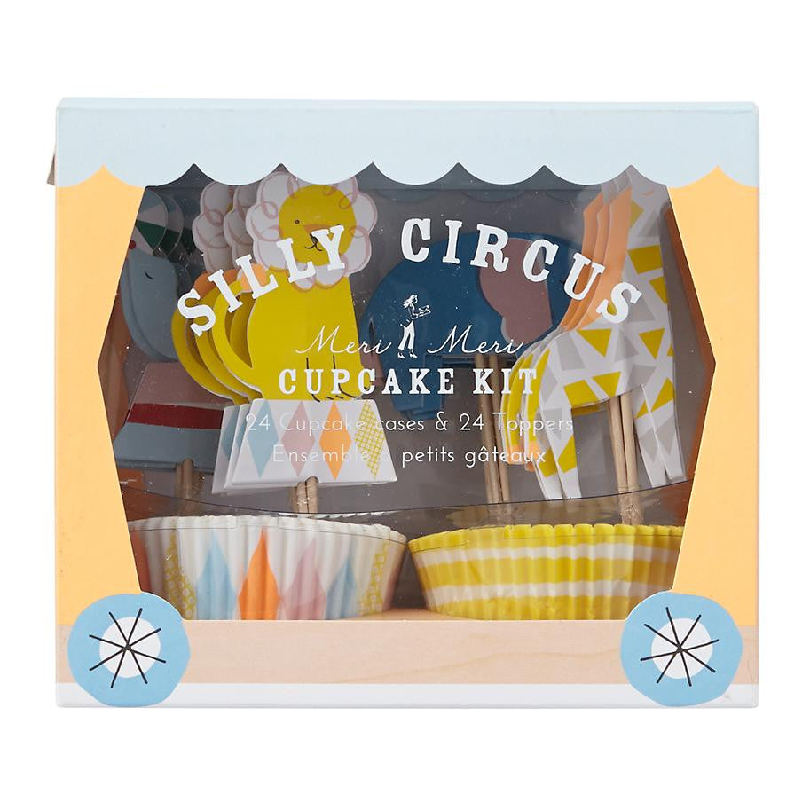 Silly Circus - Cupcake Kit -  Party Supplies - Meri Meri UK - Putti Fine Furnishings Toronto Canada - 1