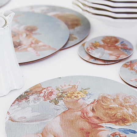 Boho & Co Cherub Coasters set of four, B&C-Boho & Co, Putti Fine Furnishings