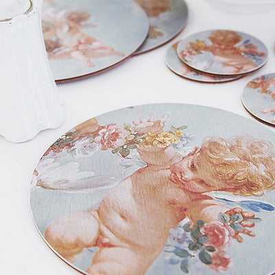 Boho & Co Cherub Luncheon Placemats, B&C-Boho & Co, Putti Fine Furnishings