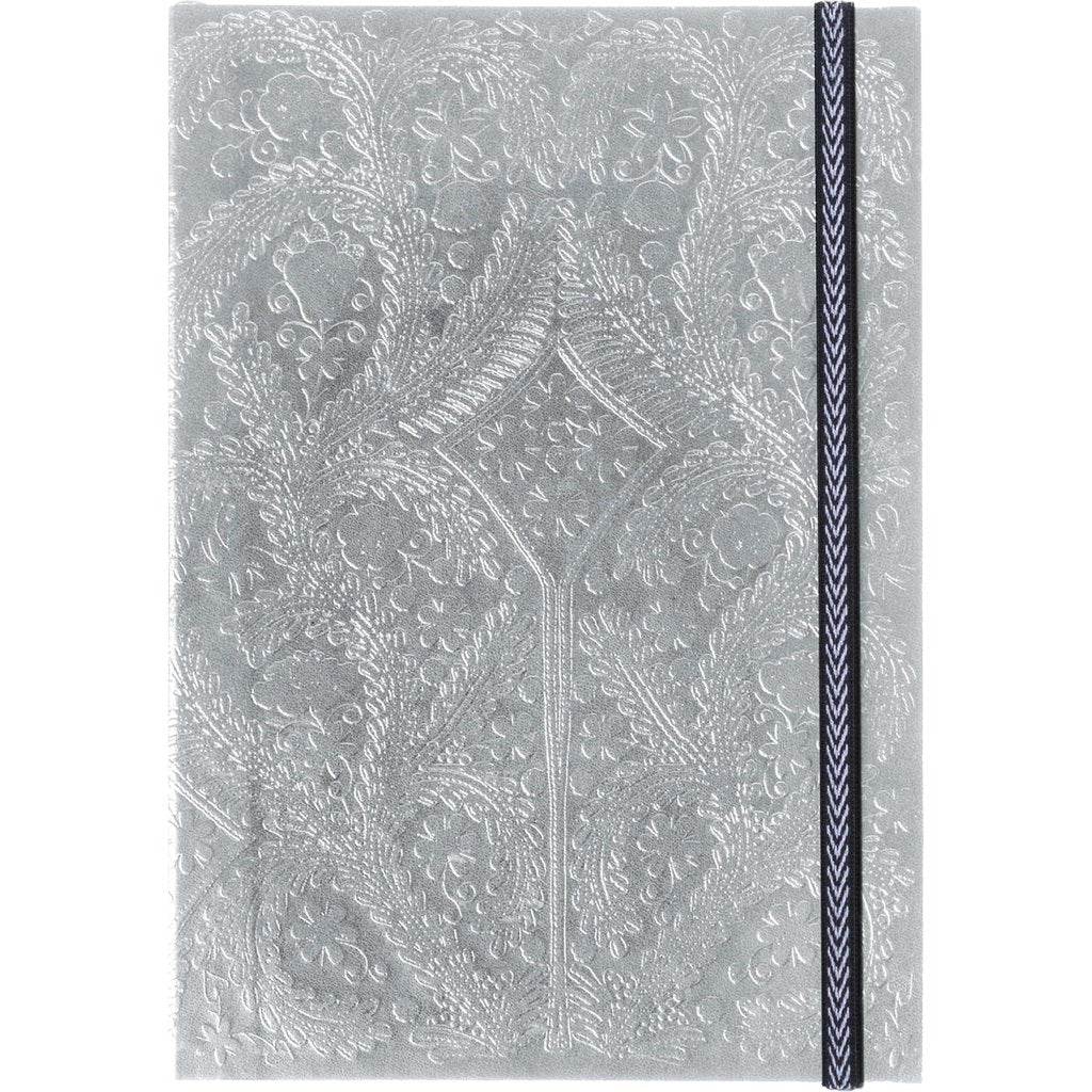Christian Lacroix Embossed Paseo Notebook - Silver, GA-Galison, Putti Fine Furnishings
