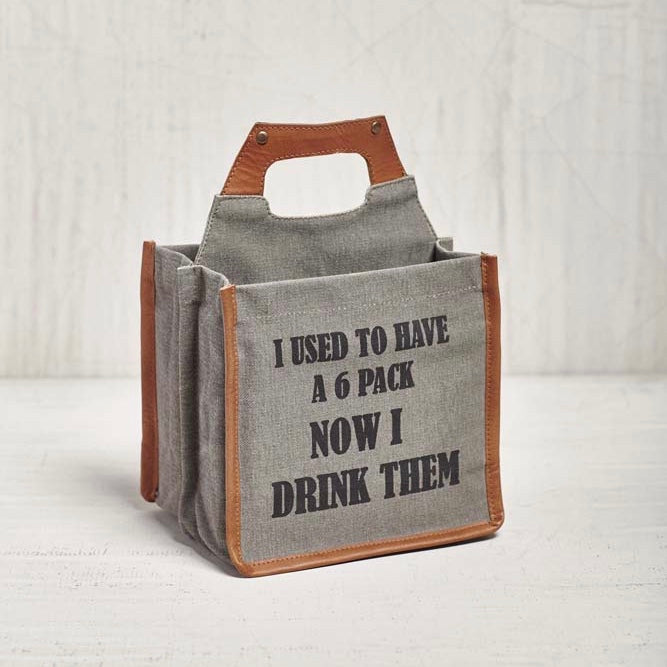 Recycled Canvas Beer Caddy - Six Pack