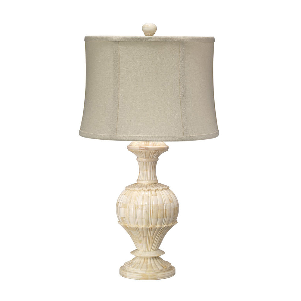 Jamie Young Carved Bone Table Lamp Small-Table Lamp-Jaimie Young-Putti Fine Furnishings
