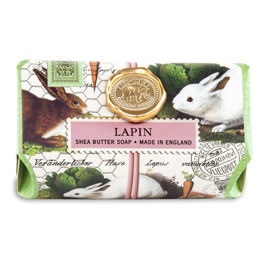 "Michel Design Works ""Lapin"" Bunnies Large Soap Bar 