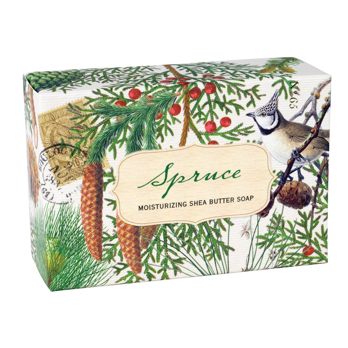 Michel Design Spruce Single Boxed Soap | Putti Christmas Celebrations
