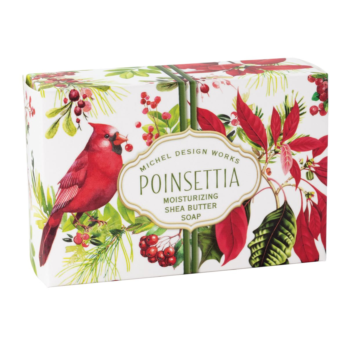 Michel Design Works Poinsettia Single Boxed Soap