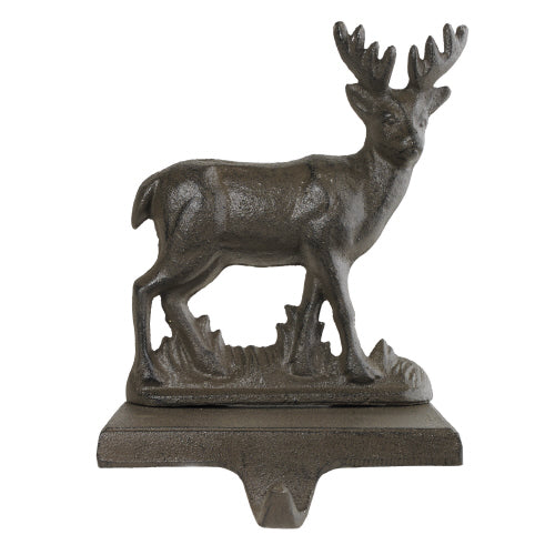 Stag Stocking Holder -Brown |  Putti Christmas Celebrations Canada