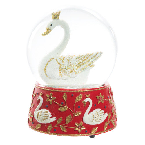 """Seven Swans a Swimming"" Musical Snow Globe 