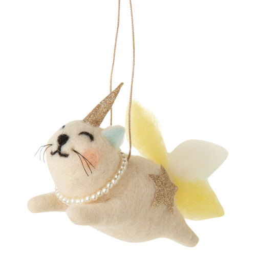 Felt Flying Cat-i-corn Ornament
