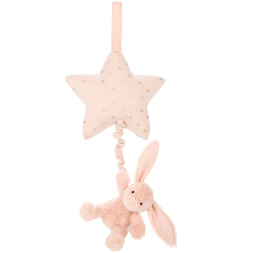 Bashful Blush Twinkle Bunny Musical Pull
