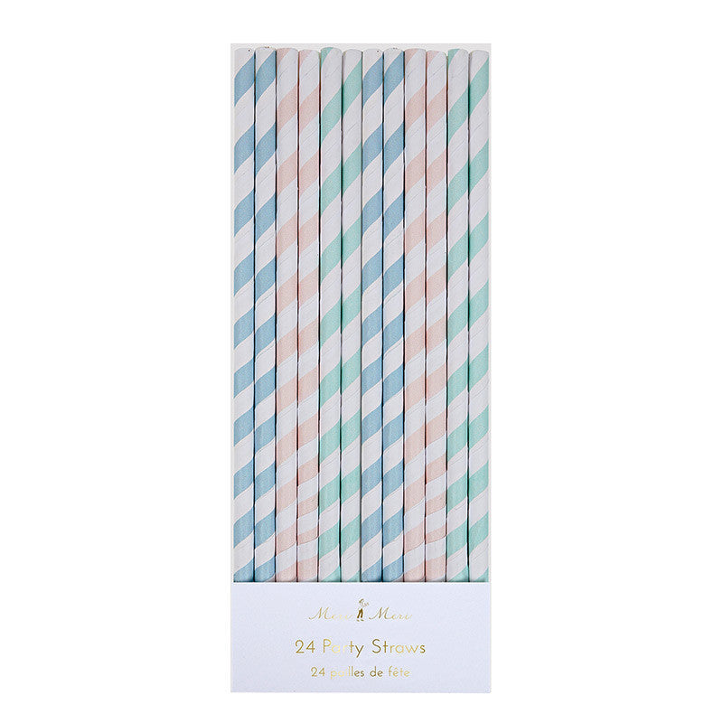 Meri Meri Pastel Paper Straws -  Party Supplies - Meri Meri UK - Putti Fine Furnishings Toronto Canada