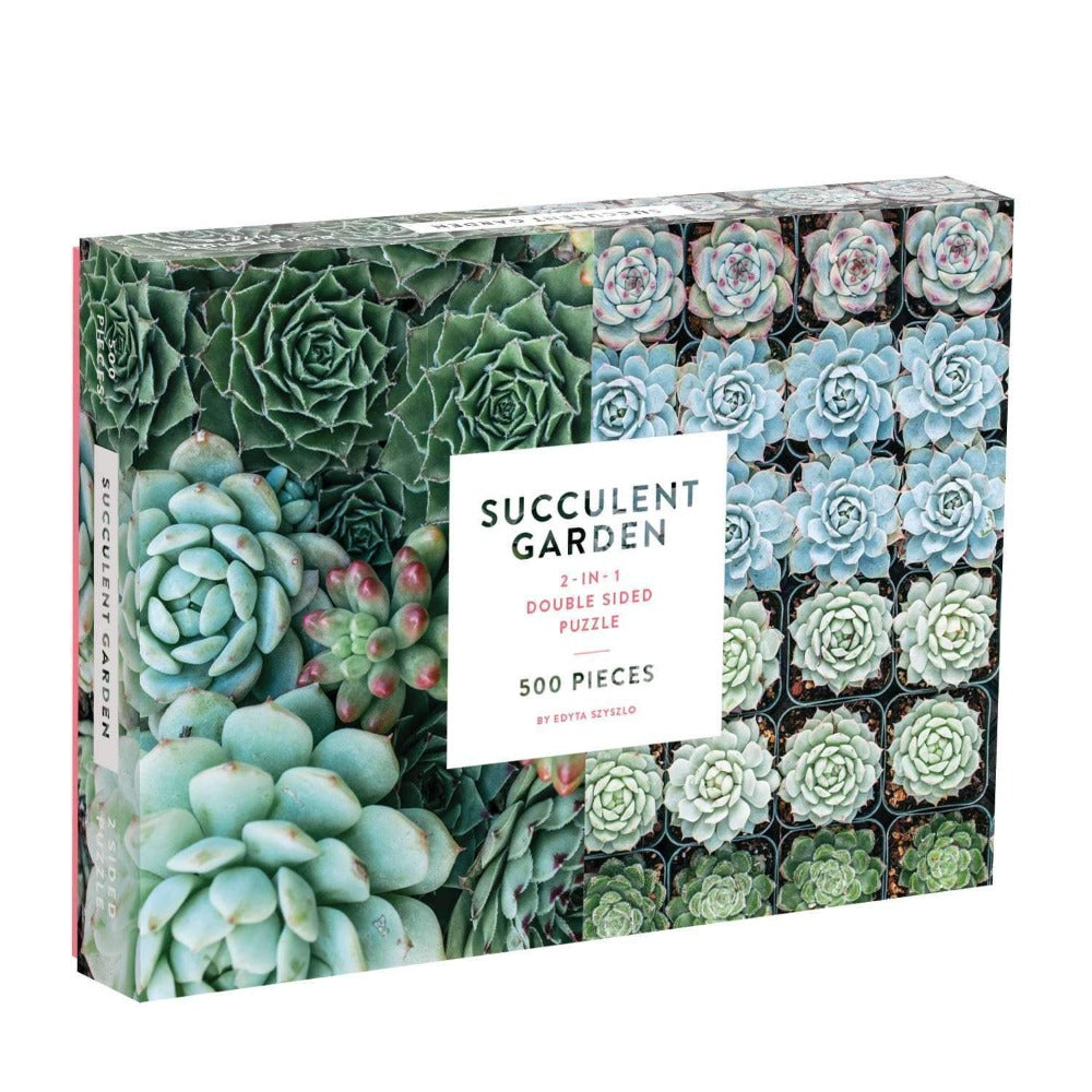 Gallison Succulent Garden Double Sided Jigsaw Puzzle 500pcs | Putti
